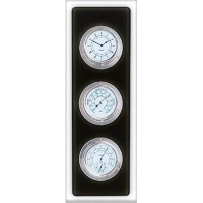 Luxe maritiem weerstation + klok (zwart)