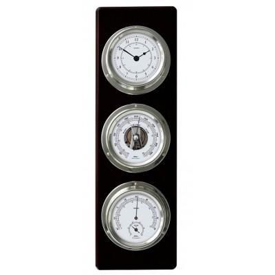 Luxe maritiem weerstation + klok XL, zwart