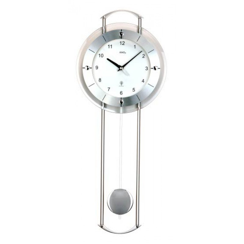 Ams 5254 klok radiogestuurd matzilver - Moderne klok ...