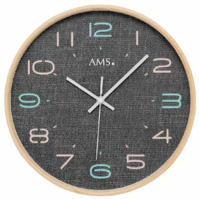 Houten ronde klok AMS 5513