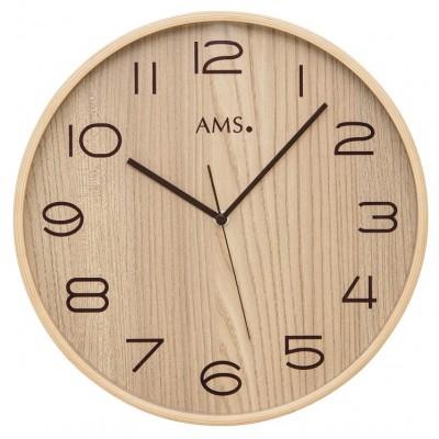 Houten ronde klok AMS 5514