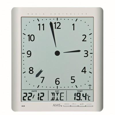 Digitale radio-controlled klok AMS 5898 Nederlands