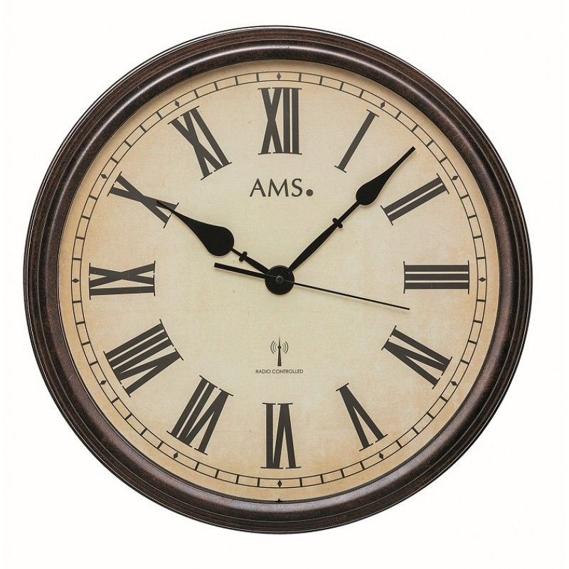 Ams Badkamer Klok 5923: Radio-controlled Klok AMS 5977