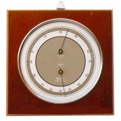 TX Hygro-/themometer mahonie/chroom Fischer
