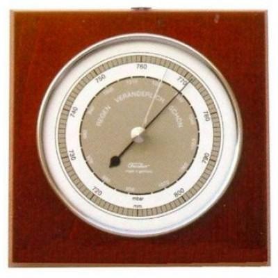 TX Barometer mahonie/chroom Fischer