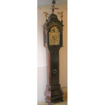 Mahonie Amsterdams staand horloge