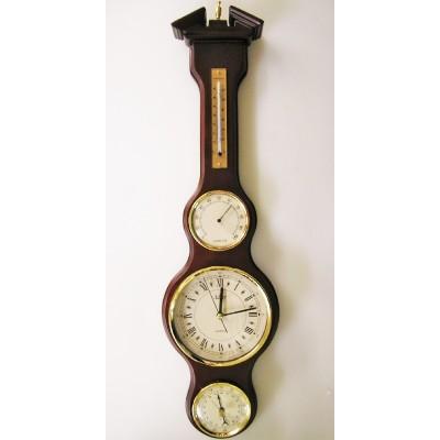 Banjo barometer met klok CB650