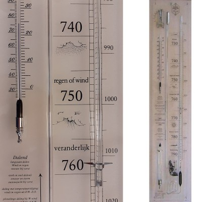 Plexiglas contra-barometer uitgebreid