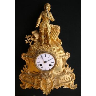 Franse bronzen pendule