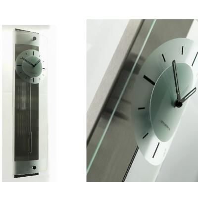 Designwandklok rvs/glas cl303.921
