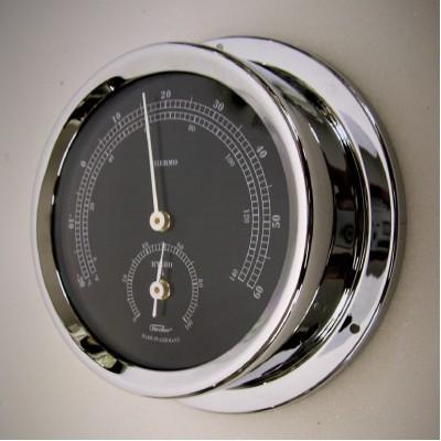 Fischer chroom zwart hygro-/thermometer TX