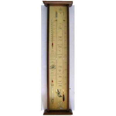 Fitzroy bakbarometer mahonie FX