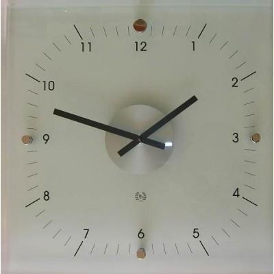 D/D Glazen vierkante klok 'mat'