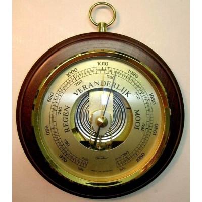 Ronde barometer mahonie SQ