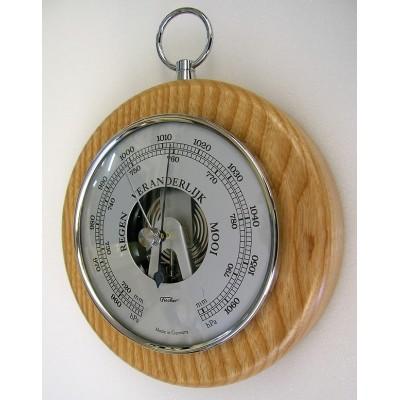 Ronde barometer blank/chroom