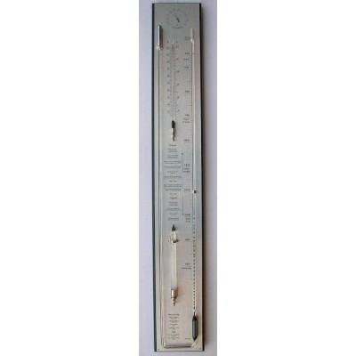 Barometer chroom/zwart (meest uitgebreid)