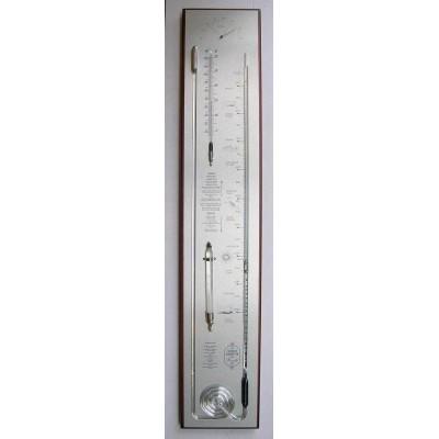 contra-barometer mahonie/rvs breed