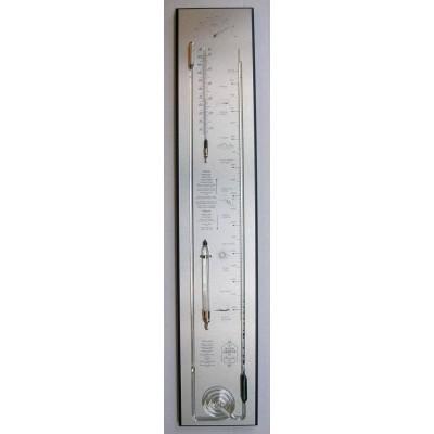 Zwart/rvs contrabarometer breed HX