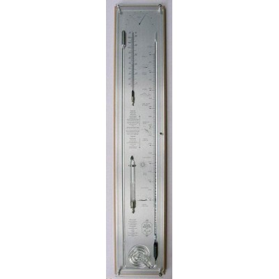 Blank/rvs contrabarometer breed+glas