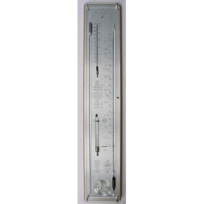 Blank/rvs contrabarometer breed+glas
