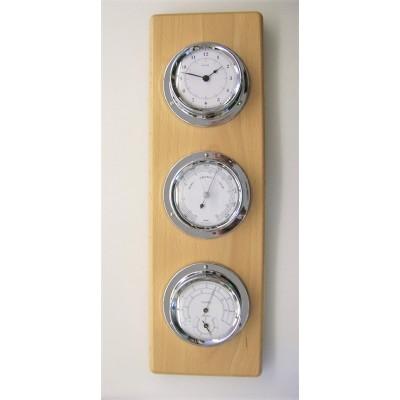 Luxe maritiem weerstation + klok (blank)