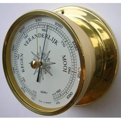 Fischer scheepsbarometer koper Hollands