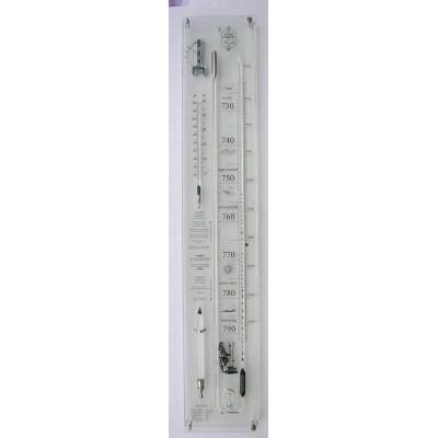 Plexiglas barometer uitgebreid + glas