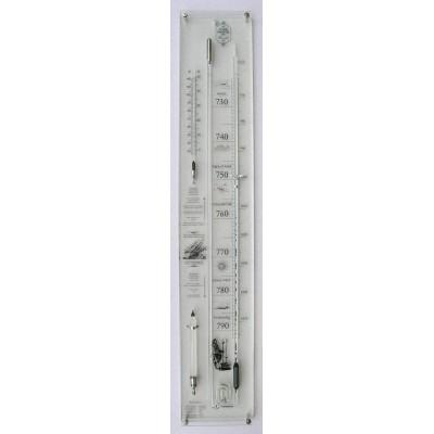 Plexiglas barometer + glas