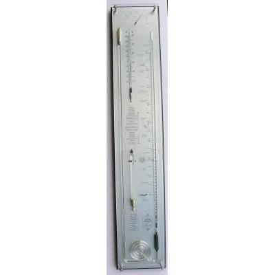 Zwart/rvs contrabarometer breed+glas YF