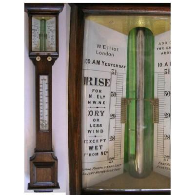 Engelse eiken stickbarometer