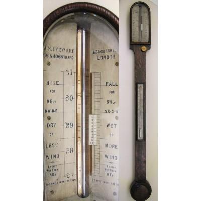 Engelse stickbarometer J.H. Steward