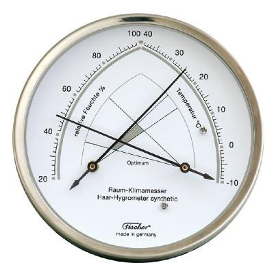 ZX Thermo- / hygrometer Fischer RVS groot