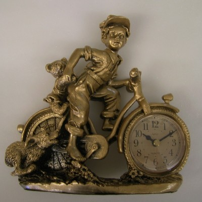 Tafel klok met fiets 'Pendule-Frivole'