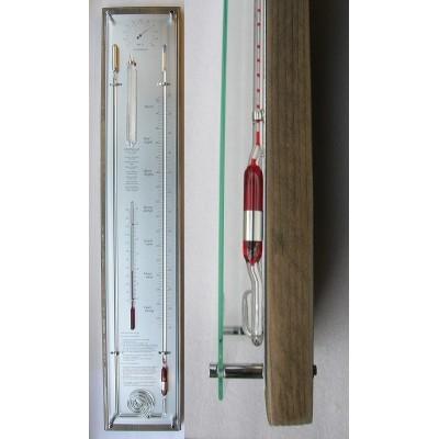 Contrabarometer steigerhout/rvs