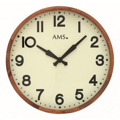 Houten ronde klok AMS 9535