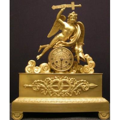 Bronzen Empire pendule