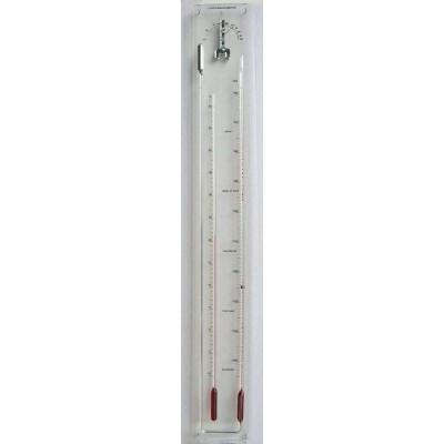 Plexiglas contra-barometer TH rood