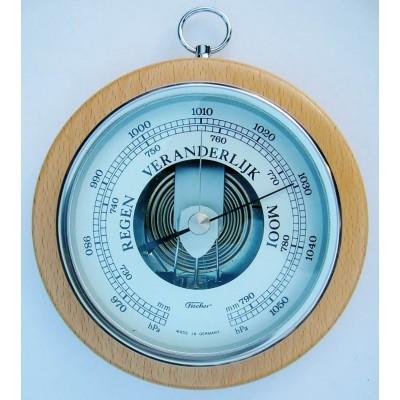 Ronde barometer (chroom) Fischer