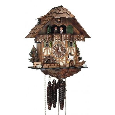Koekoeksklok, bewegende houthakker + carrousel