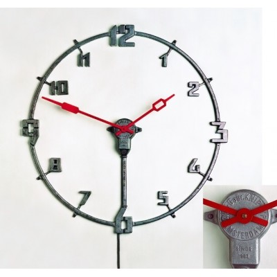 Grote metalen Gebr. Knip industrial office clock