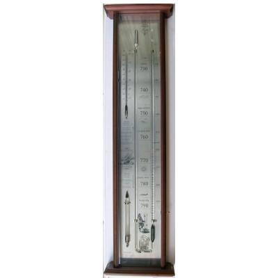 Fitzoy's bakbarometer mahonie/chroom VQ