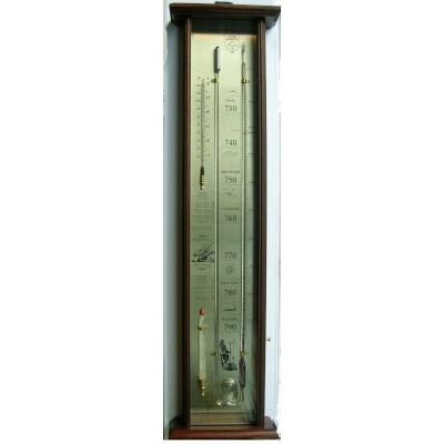Fitzroy's bakbarometer mahonie/messing LX