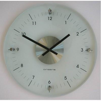 D/D Glazen ronde klok transparant