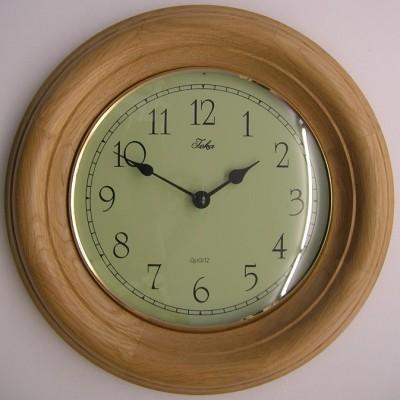 5) Jeka blank eiken ronde klok