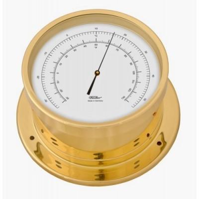 Fischer scheeps thermometer + messing