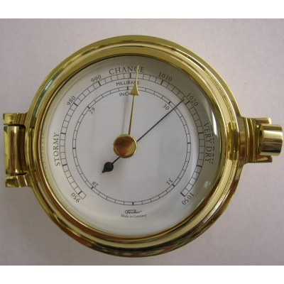 GX Fischer massief messing scheepsbarometer