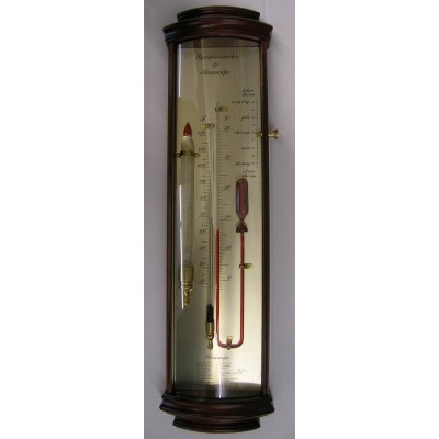 Bow-front tendensbarometer + baroscoop
