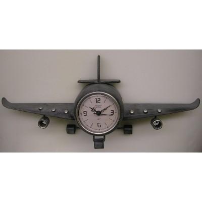 Metalen vliegtuig staand klokje CB307