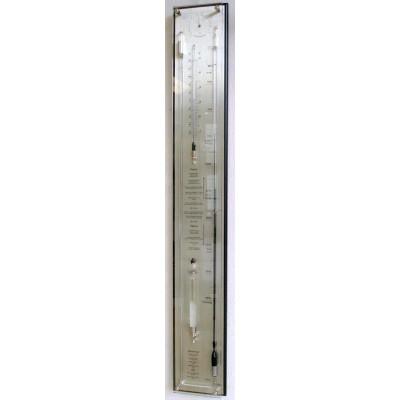 Barometer zwart/rvs + glas